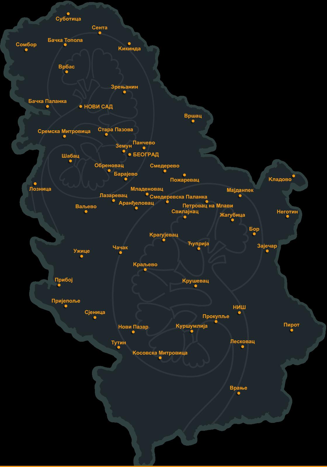 backa topola mapa srbije Udruženje nefrologa Srbije | Dijalizni centri u Srbiji backa topola mapa srbije