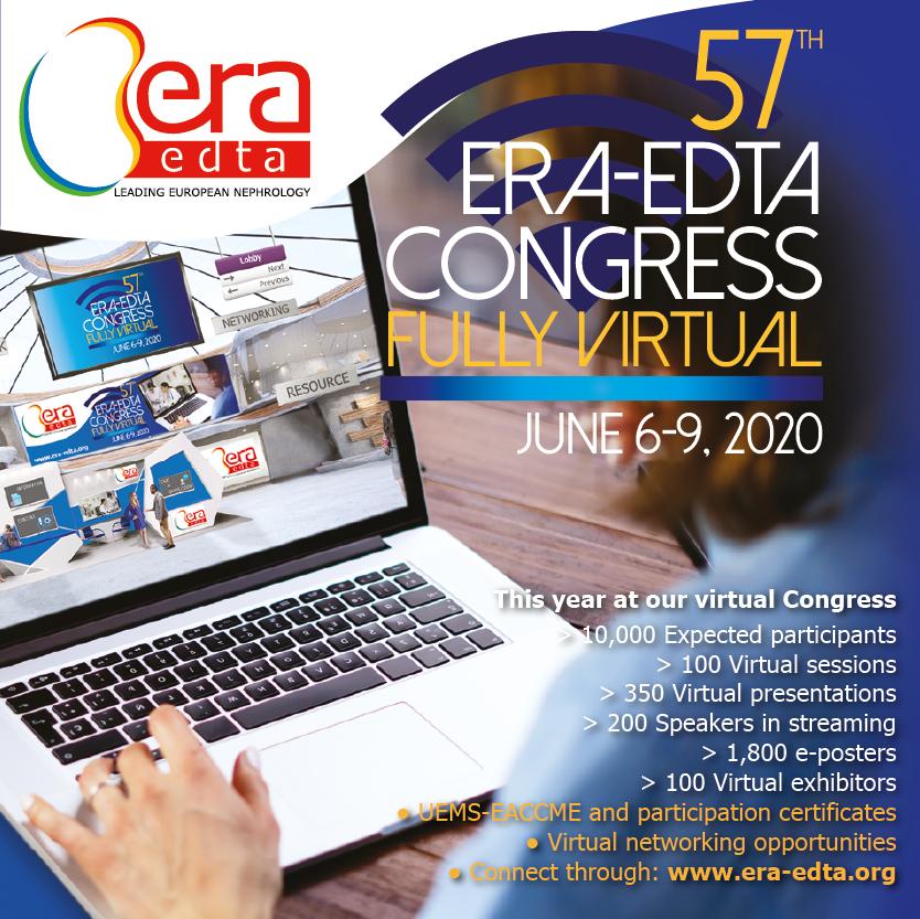 57th ERA-EDTA Congress, fully virtual (June 6-9, 2020)