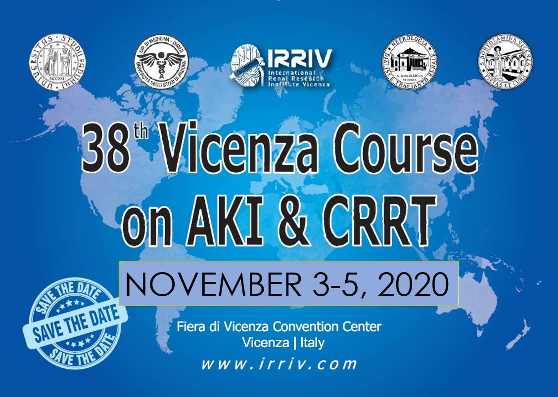 38th VICENZA COURSE ON AKI & CRRT FLYER