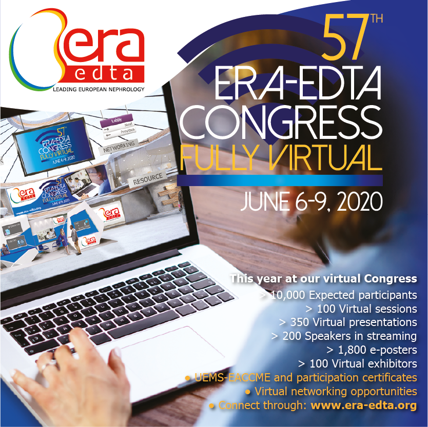 57th ERA-EDTA Congress, fully virtual (June 6-9, 2020)
